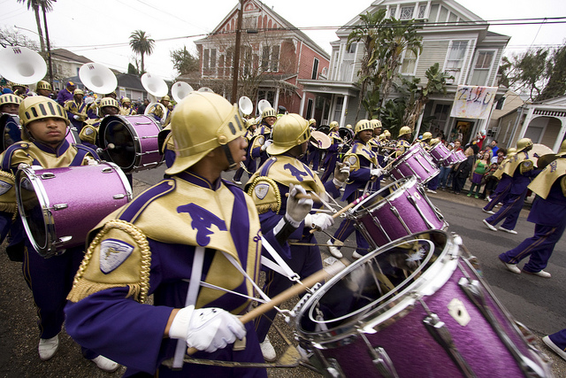 "St. Augustine High School ""Marching 100"" at Mardi Gras."