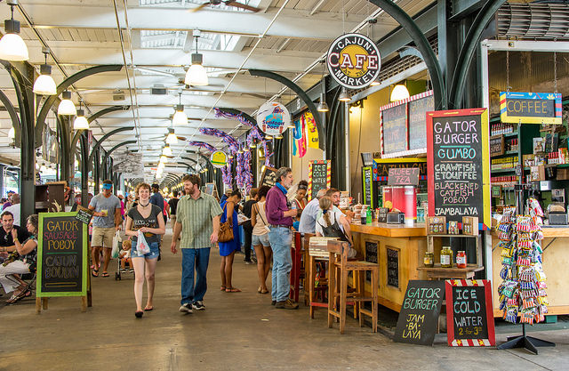 The French Market features fresh produce, flea market finds, and work by local artists. (Photo by Kent Kanouse, via Flickr)