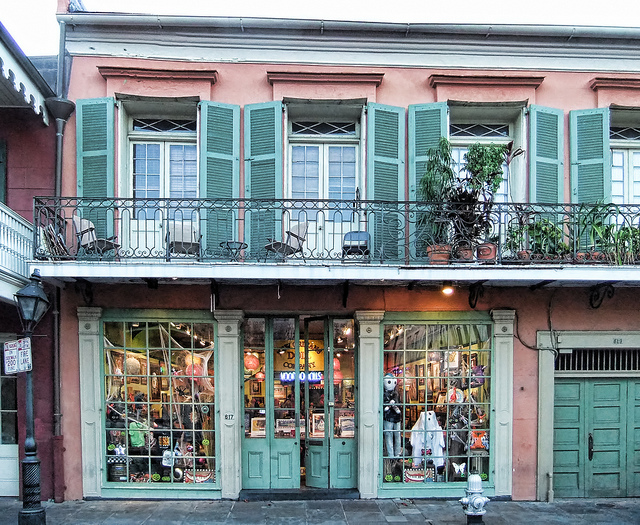 The French Quarter offers a wide array of shopping, from national chains to locally owned boutiques and art galleries. (Photo by Peter Roome, via Flickr)