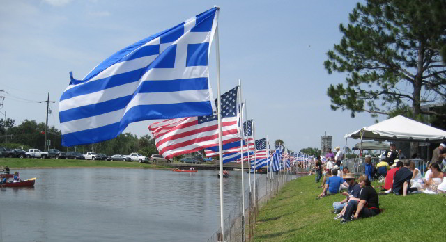 New Orleans Greek Fest by the banks of Bayou St. John.