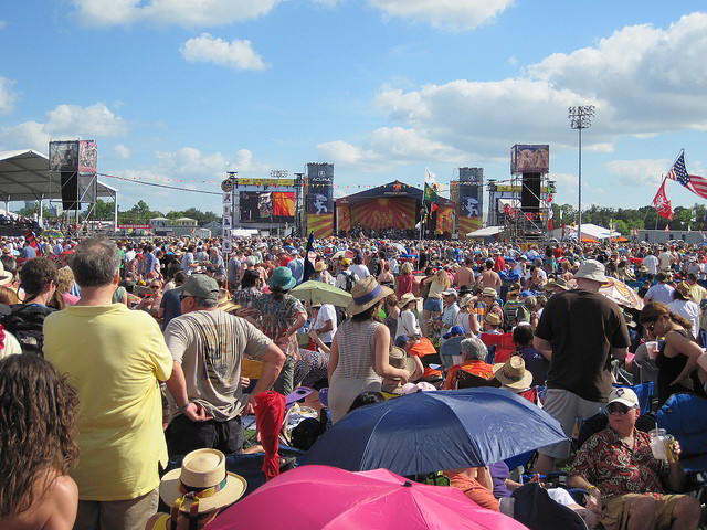 New Orleans Jazz & Heritage Festival features 7 full days of music, food, crafts and more. (Photo courtesy Flickr user sailn1)