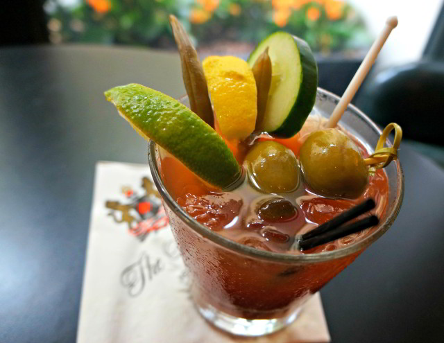 Get your tomato fix at the Carousel Bar inside Hotel Monteleone with Marvin Allen's Signature Blend Bloody Mary.