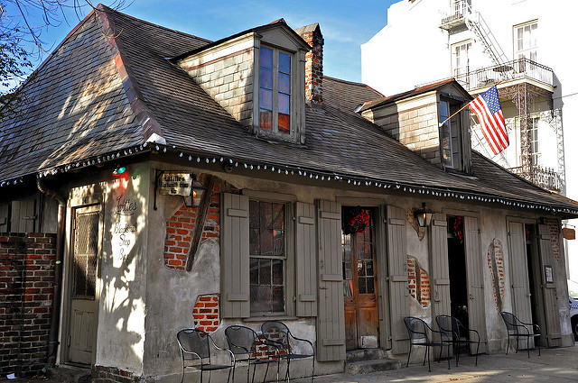 Located at the corner of Bourbon and St. Phillip, Lafitte's Blacksmith Shop is one of the oldest buildings in the city. (Photo via Flickr user Jennifer Boyer)