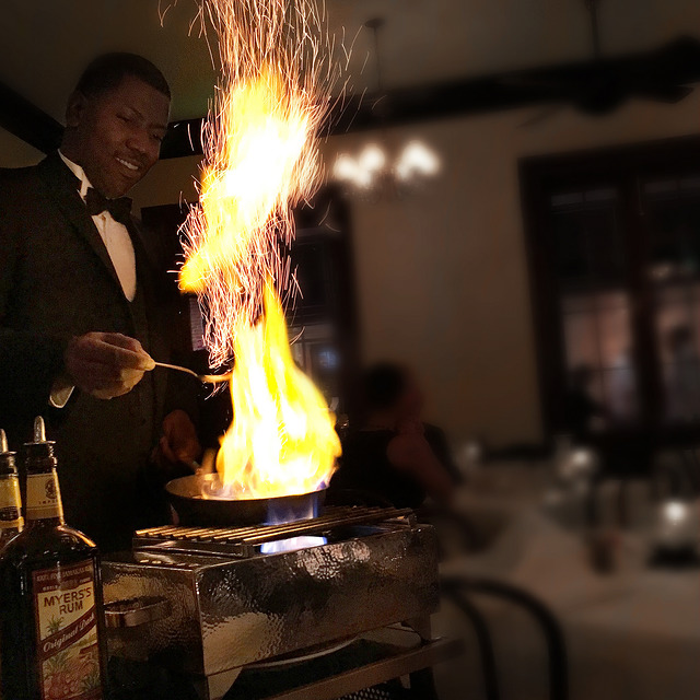 Order the Bananas Foster and your dessert will be prepared tableside at Arnaud's Restaurant in the French Quarter. (Photo: Jessica Dillree)