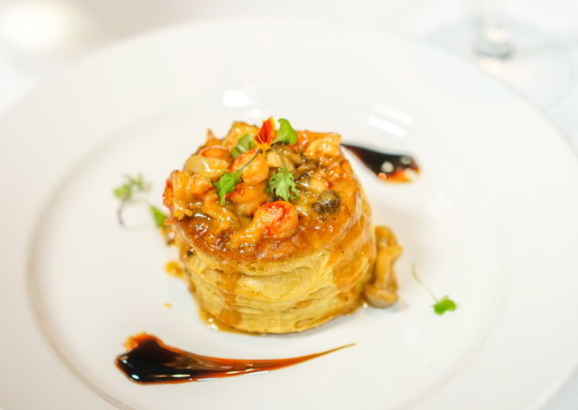 Crawfish Vol Au Vent at Criollo Restaurant inside Hotel Monteleone.
