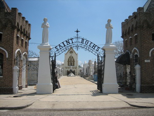 Entrance arch to St. Roch Cemetery, New Orleans