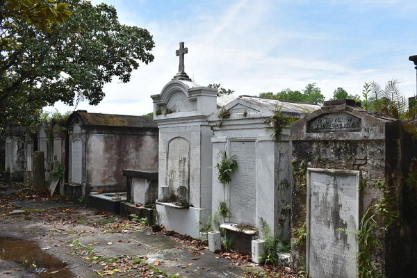 Tombs at Lafayette Cemetery No 1 Garden District New Orleans
