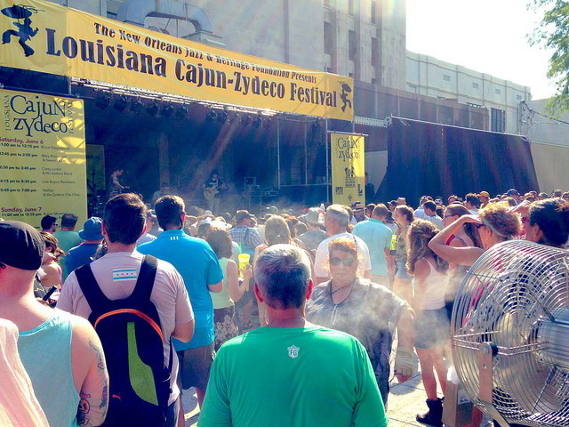 Louisiana Cajun-Zydeco Festival at Armstrong Park in the French Quarter