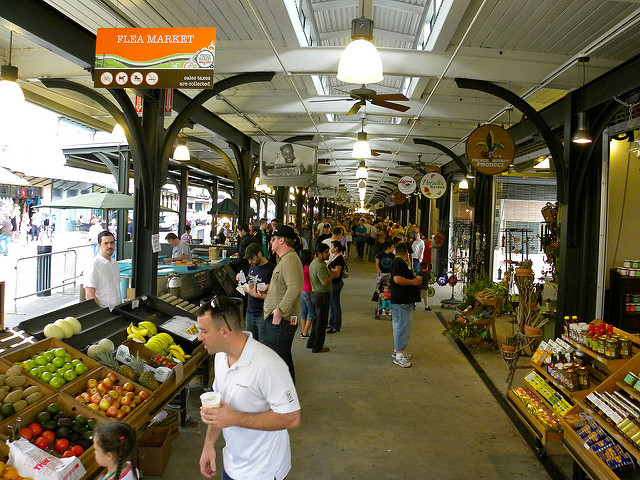 This historic French Market offers plenty of shopping opportunities for New Orleans visitors. (Photo courtesy Flickr user Jason Paris)