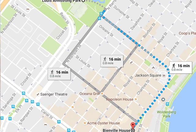 There are a multitude of different iconic New Orleans streets to take on the way to the Fest.