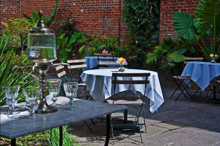 Cafe Amelie offers French Quarter Courtyard Dining with a Classic Creole menu