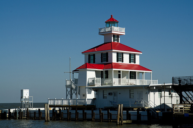 New Canal Lighthouse on Lake Pontchartrain.